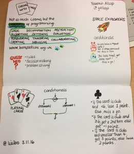 Coding with cards by Yasemin Allsop @yallsop