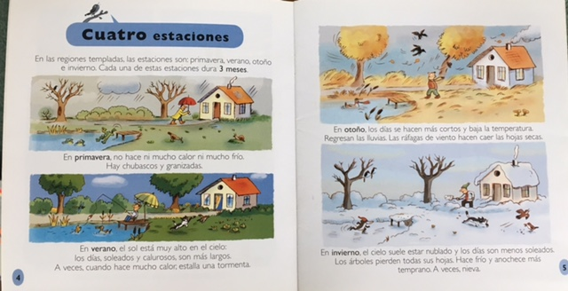 Las estaciones The Seasons Science Readers Content and Literacy Spanish Edition